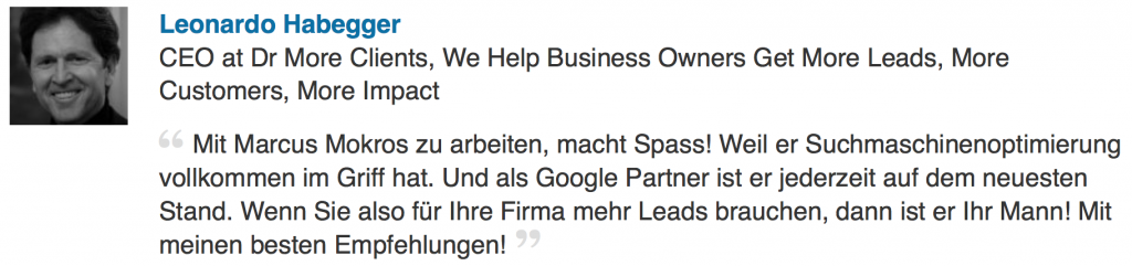 wir sind offizieller Google Partner